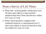 from a survey of lac firms