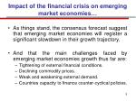 impact of the financial crisis on emerging market economies