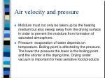 air velocity and pressure