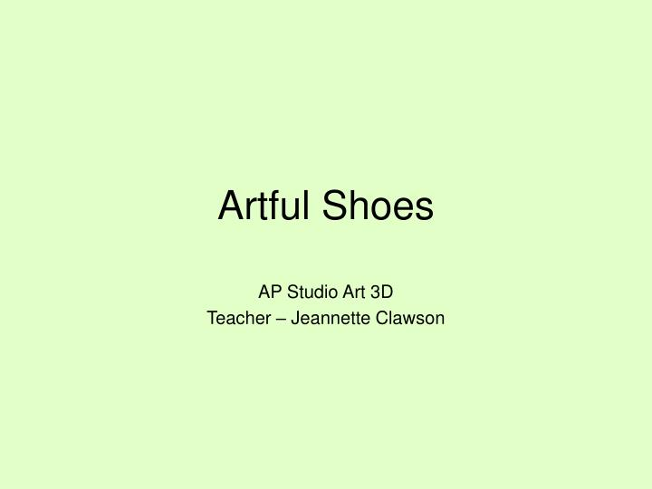 artful shoes n.