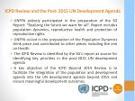 icpd review and the post 2015 un development agenda