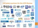 un system partners for the icpd review