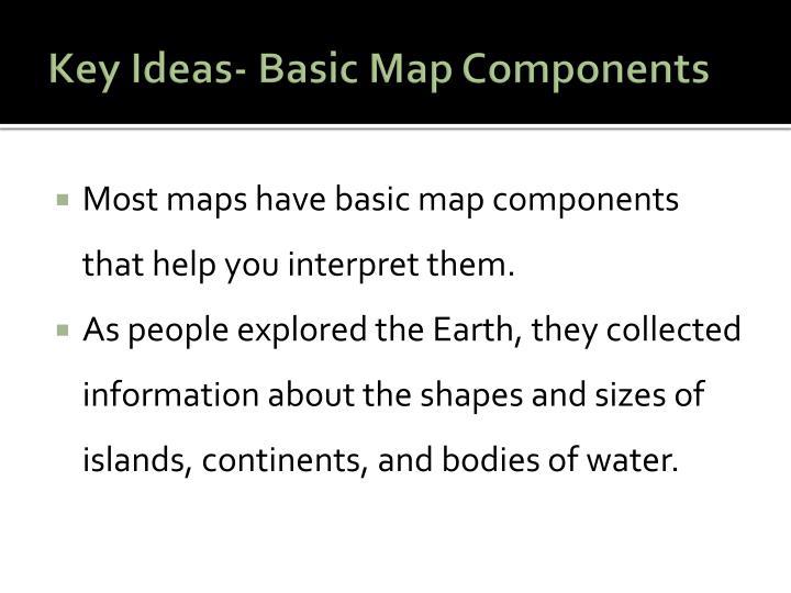 Key Ideas- Basic Map Components