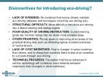 disincentives for introducing eco driving