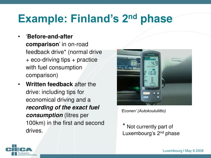 Example: Finland's 2