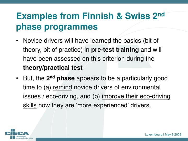 Examples from Finnish & Swiss 2