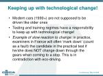 keeping up with technological change