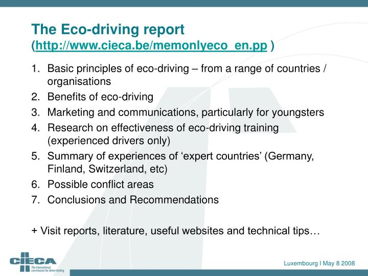 The Eco-driving report