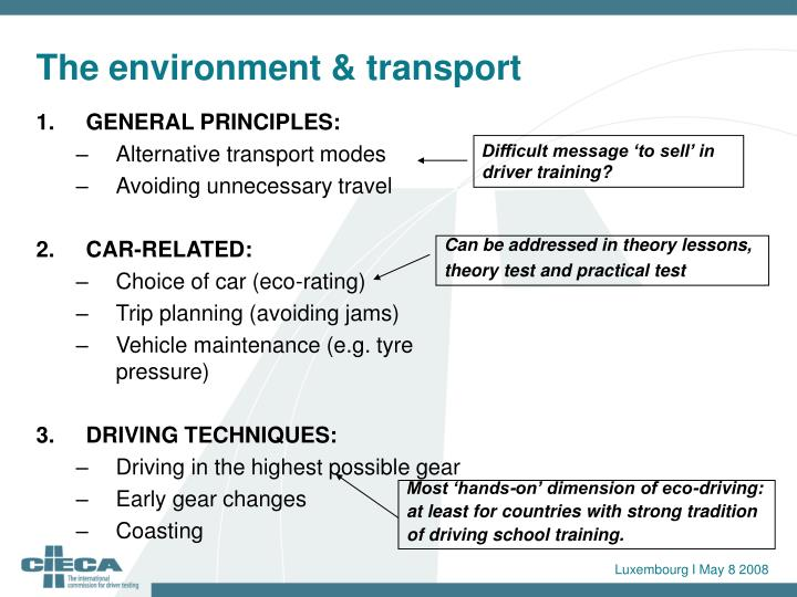 Difficult message 'to sell' in driver training?