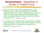 environment disparities in access to healthy food