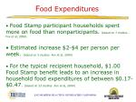 f ood expenditures
