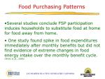 food purchasing patterns