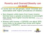 poverty and overwt obesity can co exist