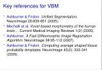 key references for vbm