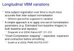 longitudinal vbm variations