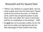 roosevelt and his square deal