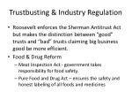 trustbusting industry regulation1