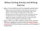 wilson sorting activity and writing exercise