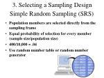 simple random sampling srs