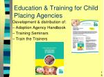 education training for child placing agencies