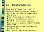 esp responsibilities