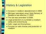 history legislation