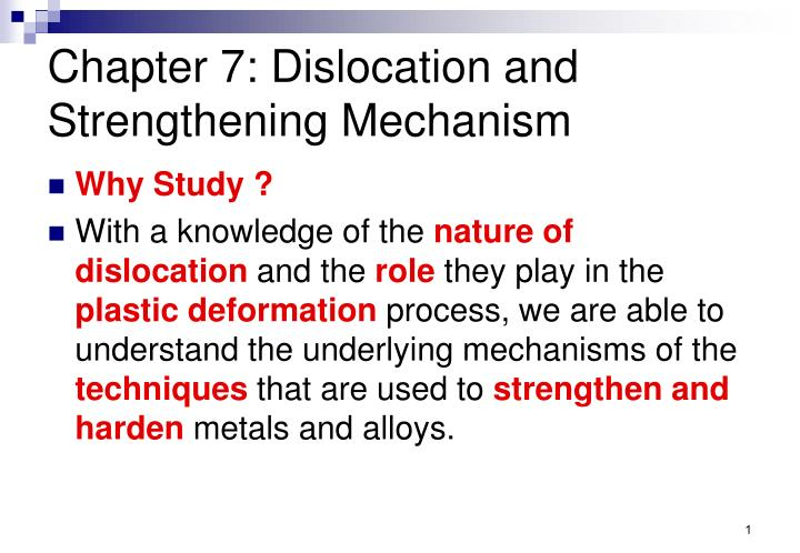 chapter 7 dislocation and strengthening mechanism n.