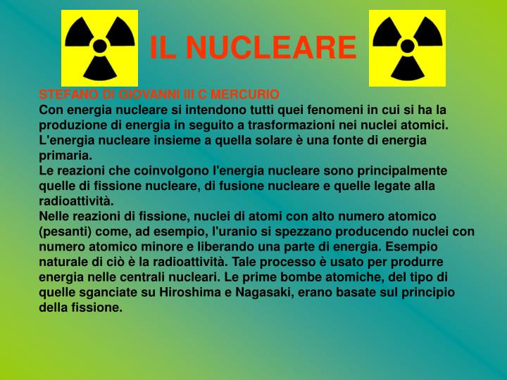 il nucleare n.