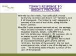 town s response to union s proposal
