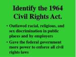 identify the 1964 civil rights act