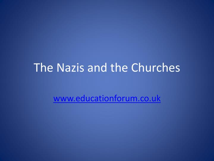 the nazis and the churches n.