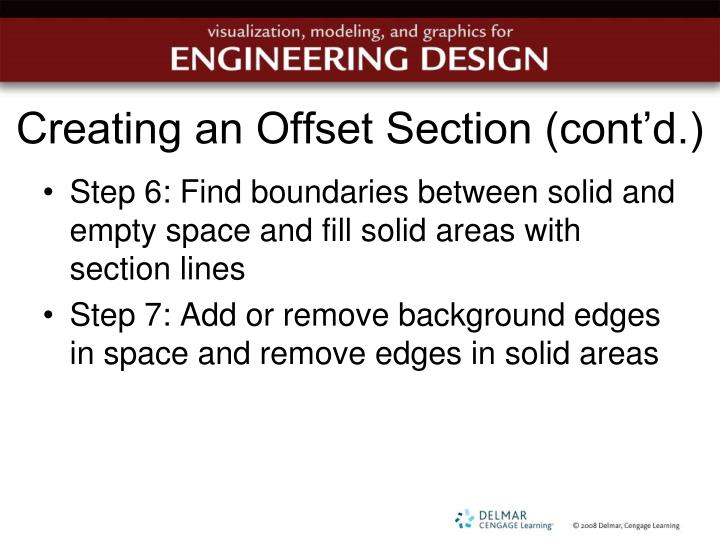 Creating an Offset Section (cont'd.)