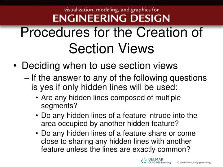 Procedures for the Creation of Section Views