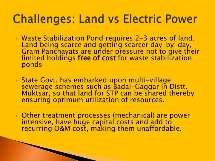 Challenges: Land