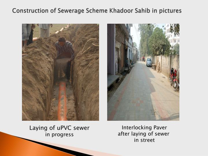 Construction of Sewerage Scheme