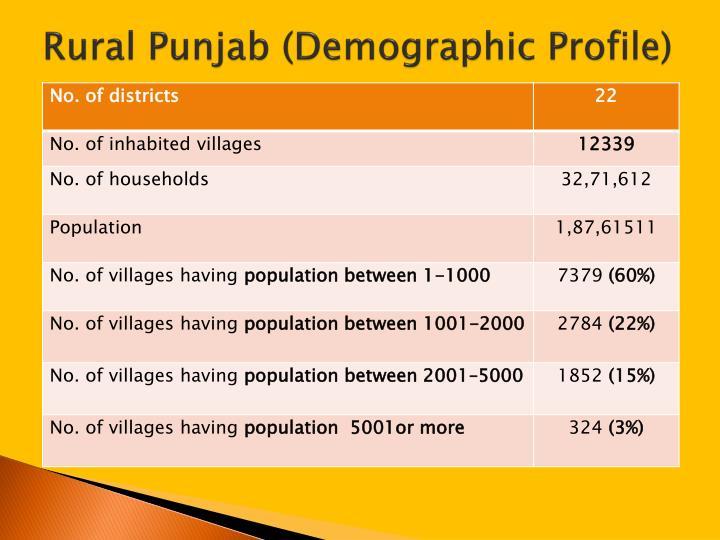 Rural punjab demographic profile
