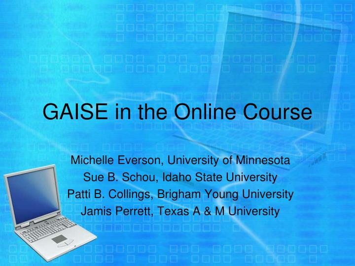 gaise in the online course n.