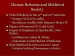 clunaic reforms and medieval society