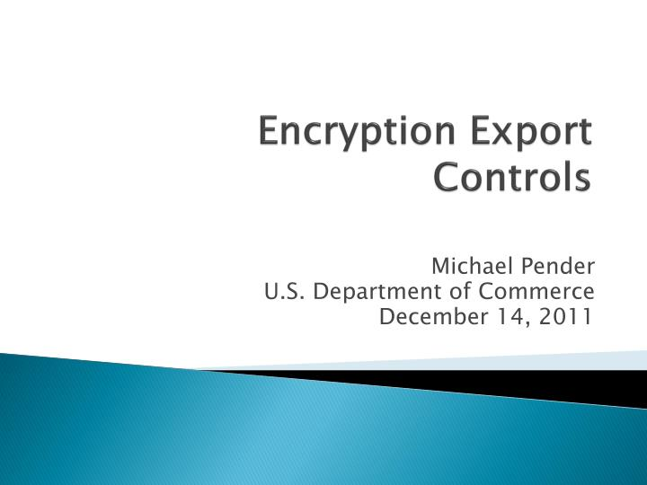 encryption export controls n.