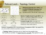 relevant work topology control