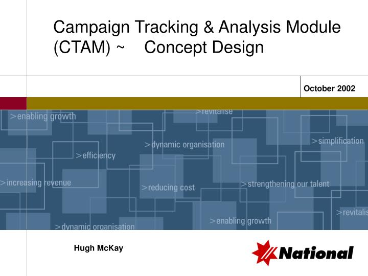 campaign tracking analysis module ctam concept design n.
