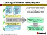collating performance data by segment