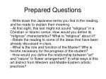 prepared questions