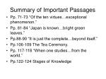 summary of important passages