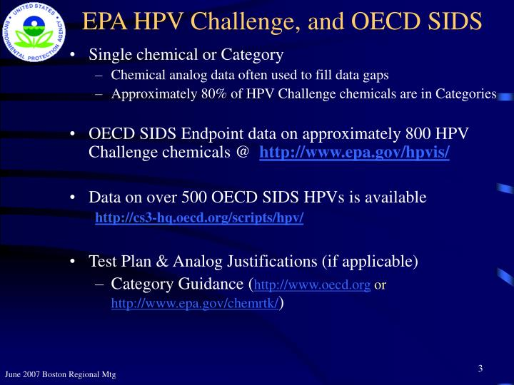 Epa hpv challenge and oecd sids