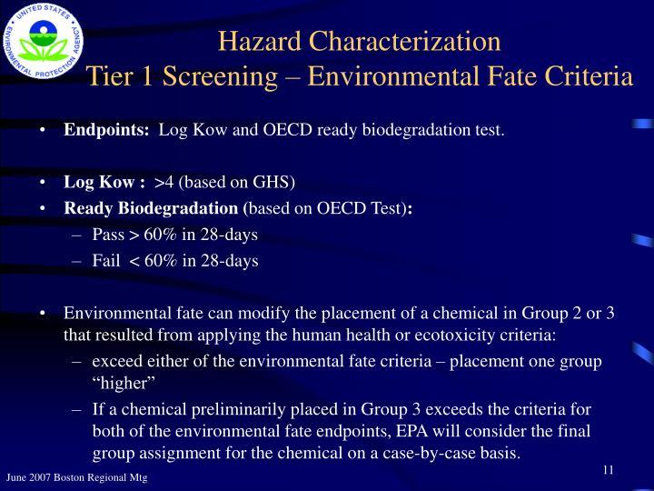 Hazard Characterization