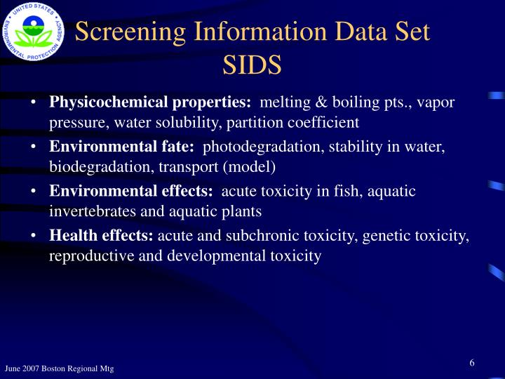 Screening Information Data Set