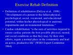 exercise rehab definition