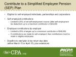 contribute to a simplified employee pension sep plan