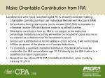 make charitable contribution from ira